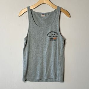 Junk Food Don't Cha Wish Gray Tank Top
